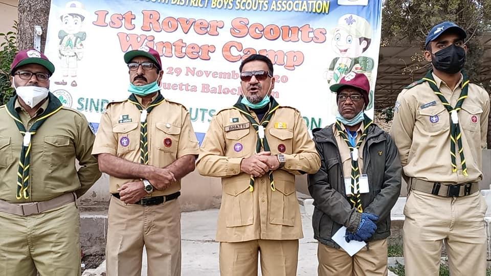 Ceremony 1st Rover Scouts Winter Camp Quetta