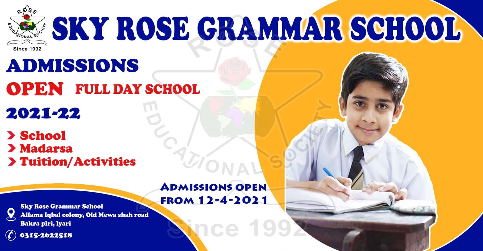 Another initiative of Rose Educational Society  Full Day School  Islamic Education Nazra Quran  Schooling and Tuition Classes Sky Rose Grammar school Now admission open