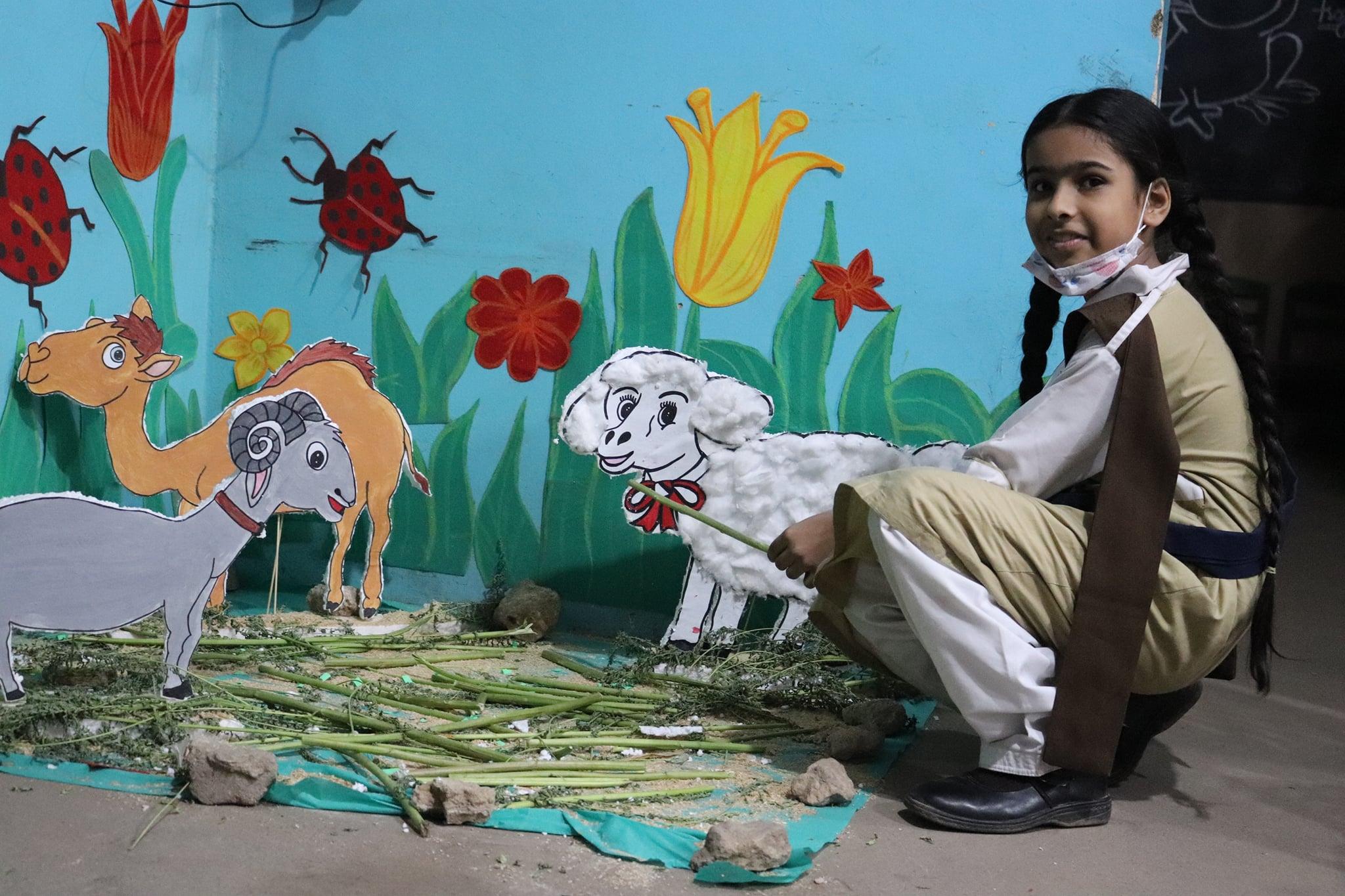 Rose Educational Society Arranged an Eid ul Azha Activity in Red Rose Grammar School Khadda.