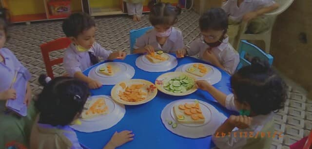 Prime Rose Grammar School  Activity  Sandwich Making