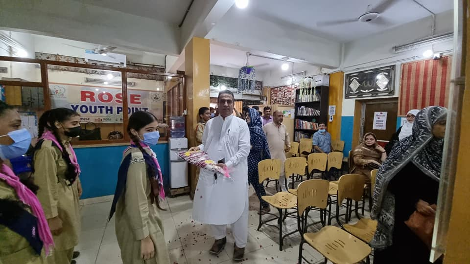 2nd Cheif Guest MNA ABDUL SHAKOOR SHAD at world Teacher's day celebration at Rose Educational Society